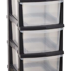 Taurus Storage Drawers Grey 5 Tier