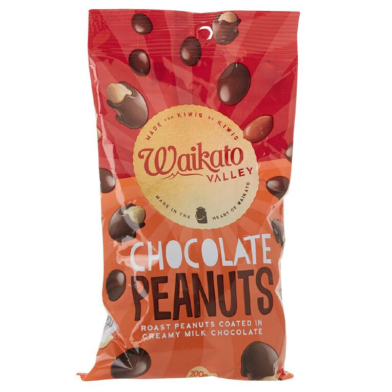 Waikato Valley Chocolates Milk Chocolate Peanut Bag 200g, , hi-res