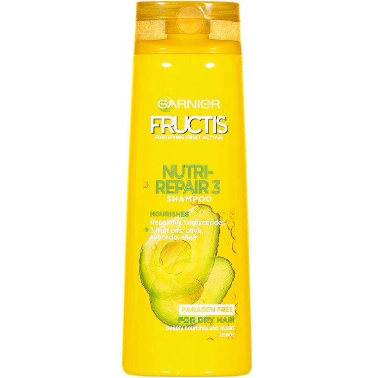 Garnier Fructis Nutri Repair 3 Shampoo 315ml, , hi-res