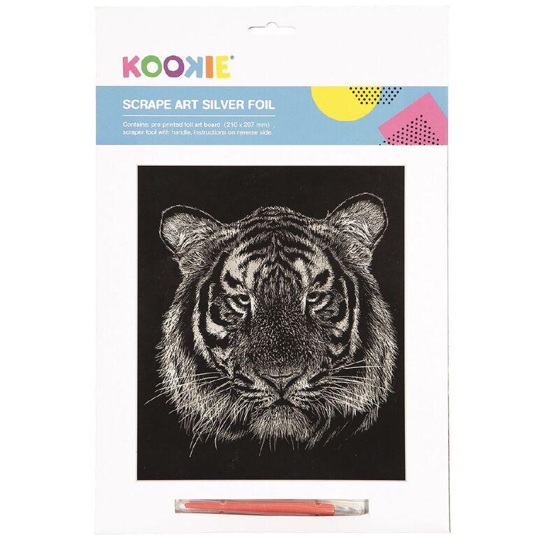 Kookie Scrape Art Set Silver Grey 1 Pack, , hi-res