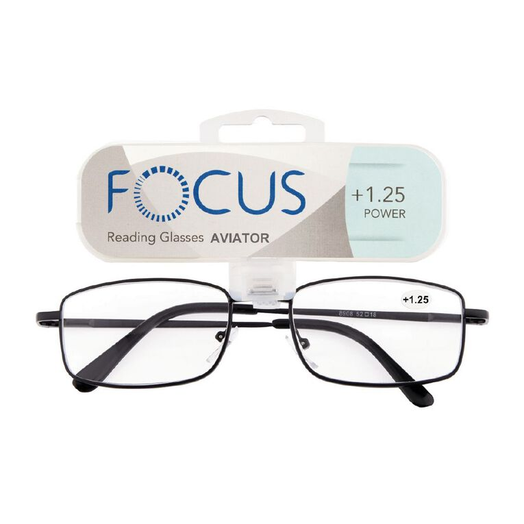 Focus Reading Glasses Aviator Power 1.25, , hi-res