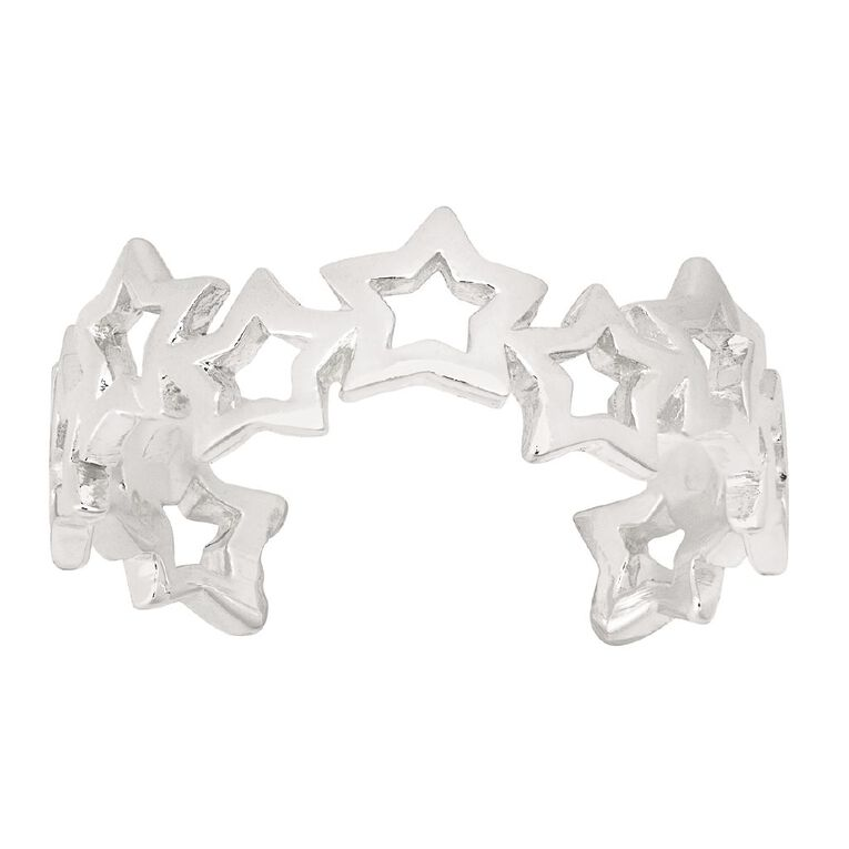 Sterling Silver Star Toe Ring, , hi-res