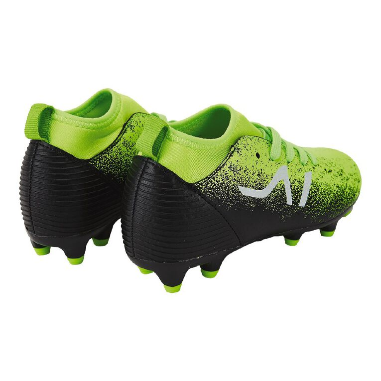 Active Intent Nero Rugby/Soccer Boots JNR-SNR, Black/Green, hi-res
