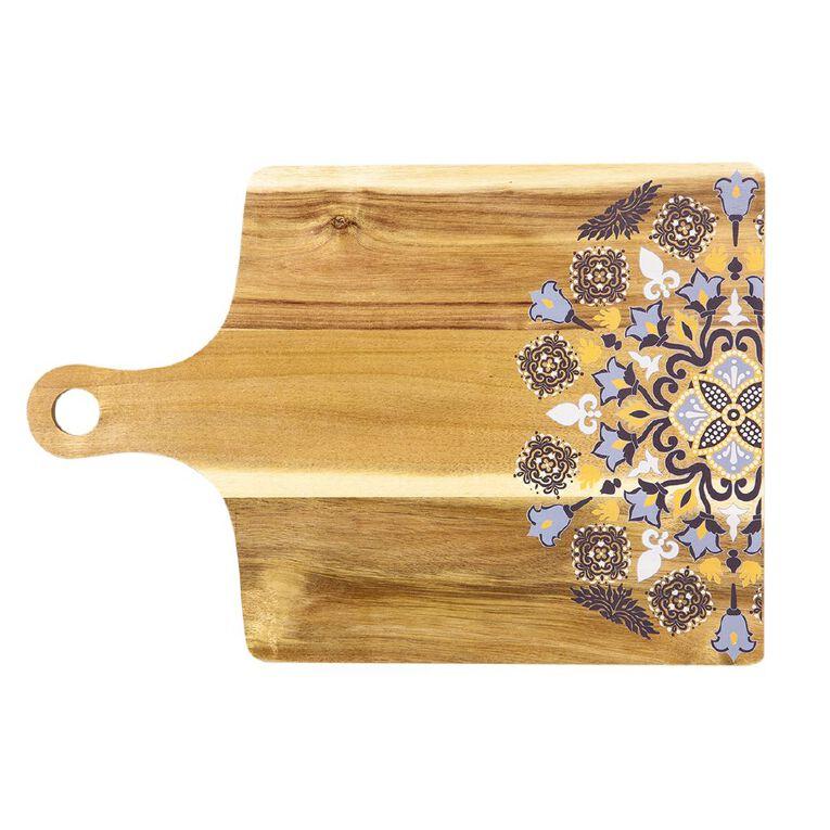 Living & Co Moroccan Acacia Wood Printed Board 50cm x 34cm, , hi-res