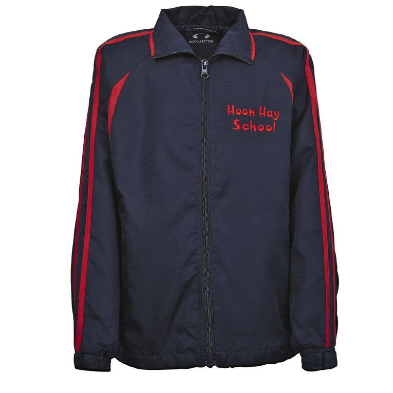 Schooltex Hoon Hay Track Jacket with Embroidery & with Screenprint, Navy/Red, hi-res