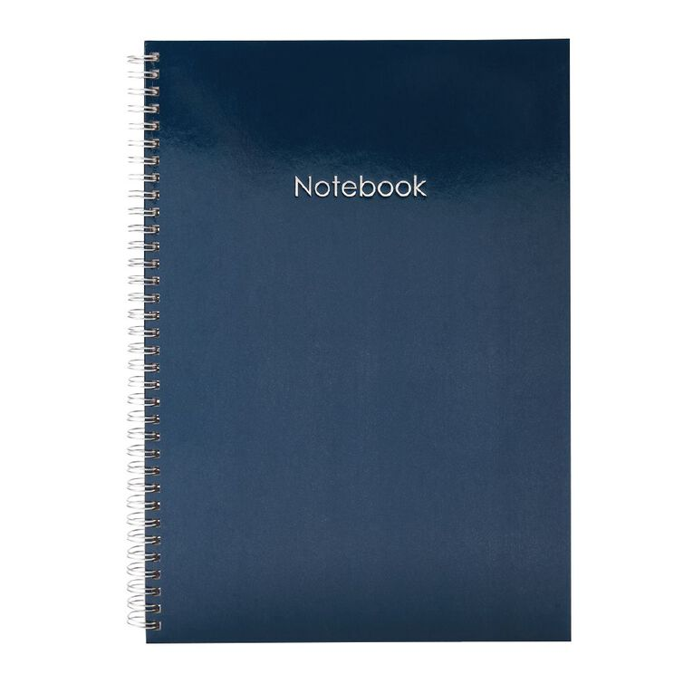 Uniti Colour Pop Notebook Hardcover Blue Dark A4, , hi-res
