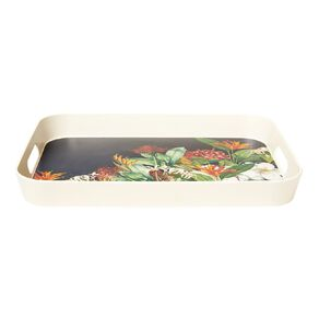 Living & Co Kiwi Floral Bamboo Tray