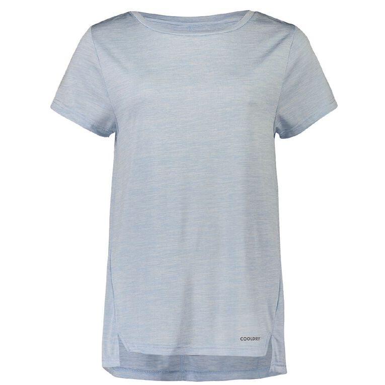 Active Intent Women's Step Hem Tee, Blue Light, hi-res image number null