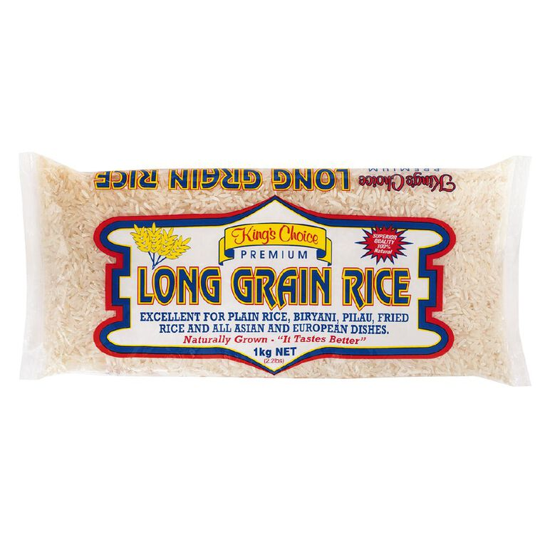Kings Choice Long Grain Rice 1kg, , hi-res