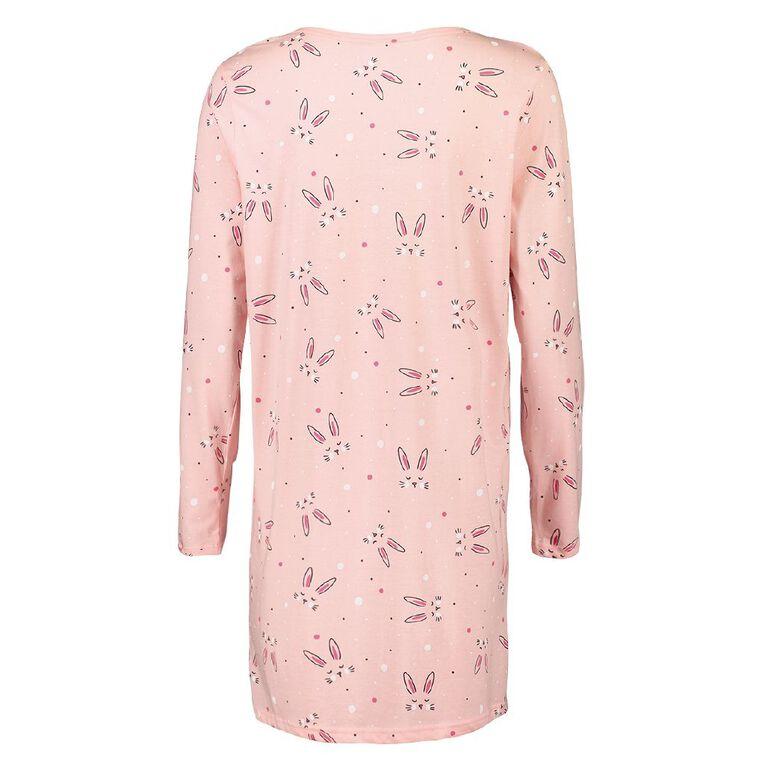 H&H Women's Long Sleeves Nightie, Pink, hi-res