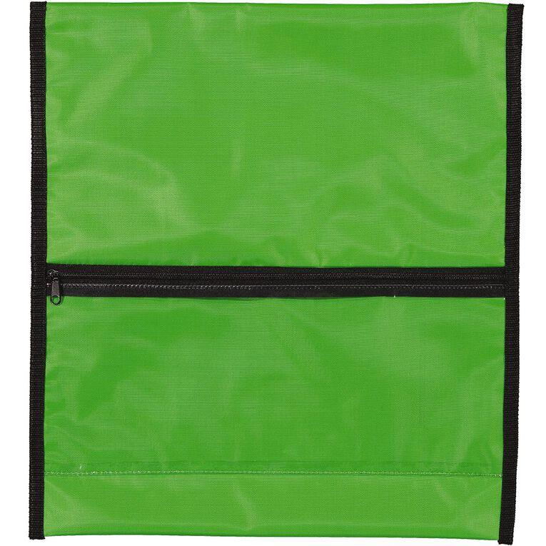 WS Book Bag Zipper Pocket 36cm x 33cm Green, , hi-res