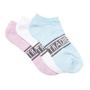 Tradie Girls' No Show Socks 3 Pack