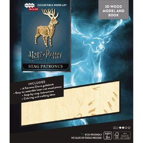 Harry Potter Incredibuilds Stag Patronus 3D Wooden Model