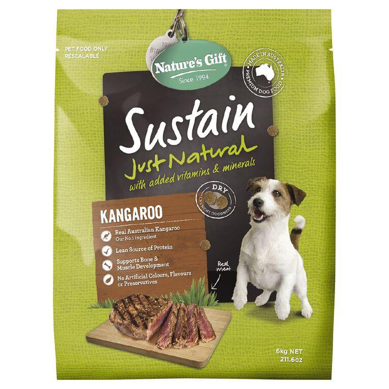 Nature's Gift Sustain Kangaroo Dog Food 6kg, , hi-res
