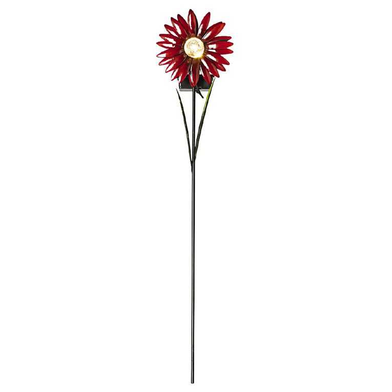 Kiwi Garden Solar Metal Flower Stake Assorted, , hi-res