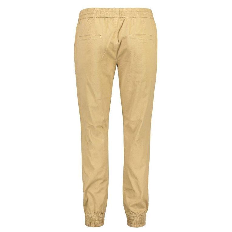 H&H Men's Cuffed Jogger Chino Pants, Beige, hi-res