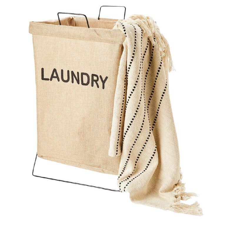 Living & Co Foldable Laundry Hamper With Frame, , hi-res