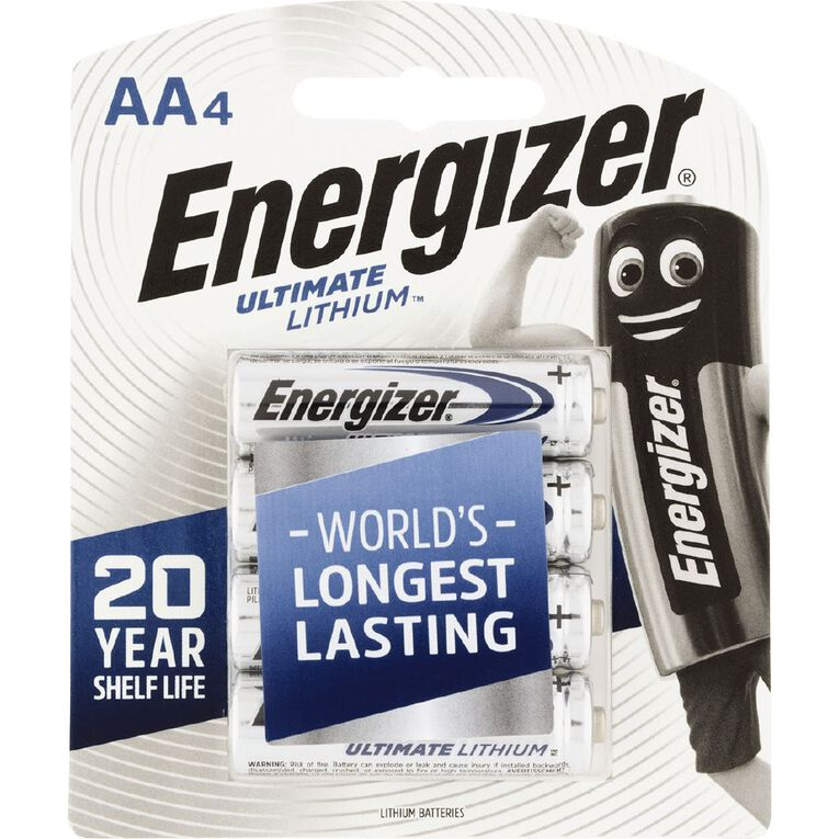 Energizer Ultimate Lithium Battery AA 4 Pack, , hi-res