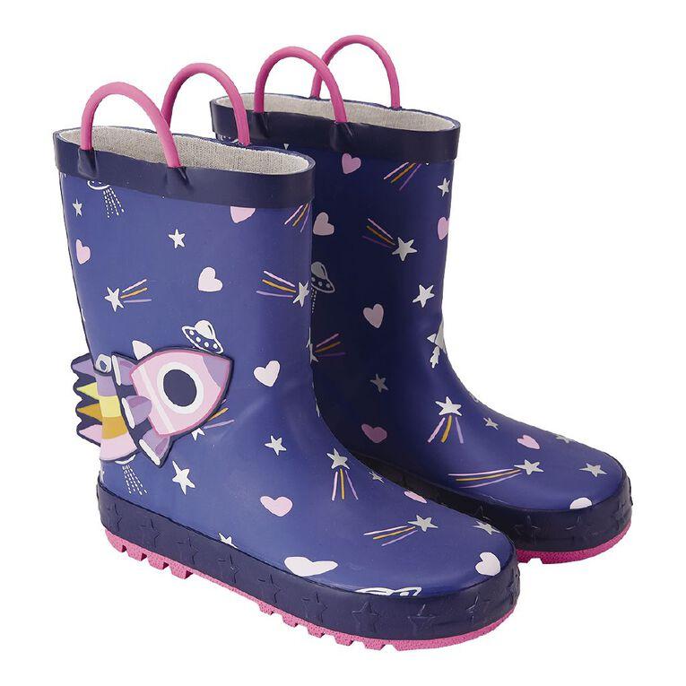 Young Original Kids' Rocket Gumboots, Purple Dark, hi-res