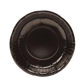 Party Inc Paper Dessert Bowls 18cm Black 20 Pack