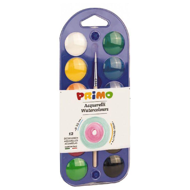 Primo Watercolour Tablets 25mm Set of 12, , hi-res