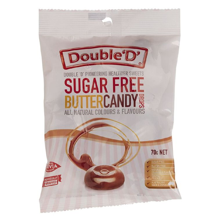 Double D Sugar Free Butter Candy 70g, , hi-res