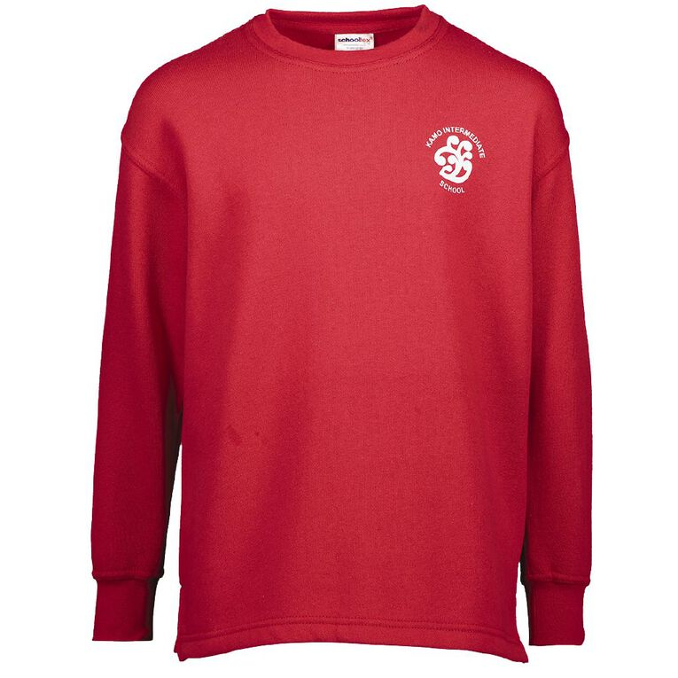 Schooltex Kamo Intermediate Tunic with Transfer, Red, hi-res