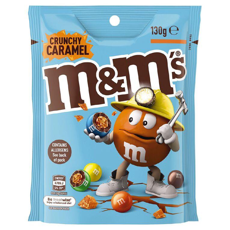 M&M's Crunchy Caramel Chocolate Bag 130g, , hi-res