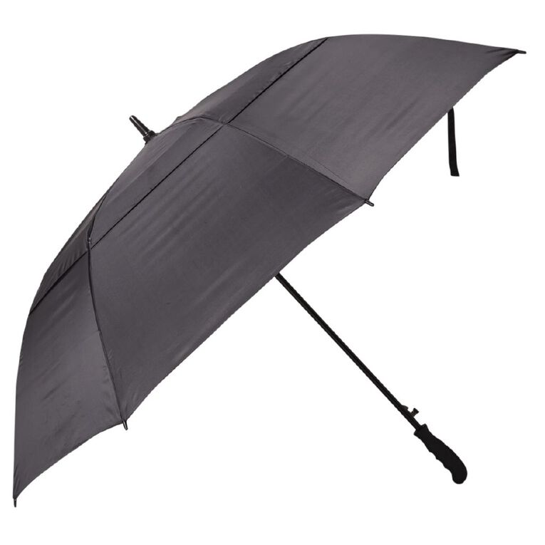 H&H Adult's Vented Umbrella, Black W21-W22, hi-res