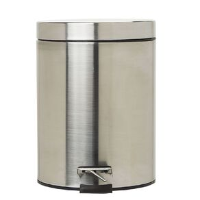 Living & Co Pedal Bin Stainless Steel Silver Silver 5L