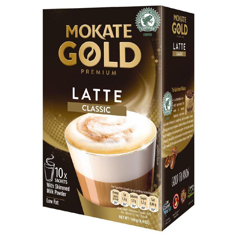 Mokate Gold Premium Latte Classic 10 Sachets, , hi-res