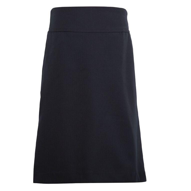 Schooltex A-Line School Back Split Skirt, Dark Navy OLD, hi-res
