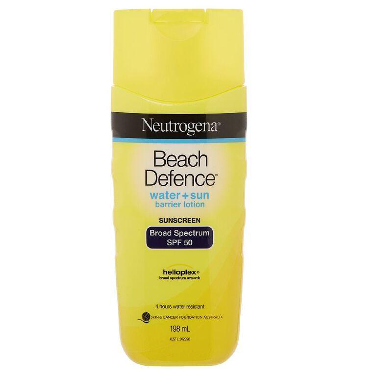 Neutrogena Beach Defence Lotion SPF50 198ml, , hi-res