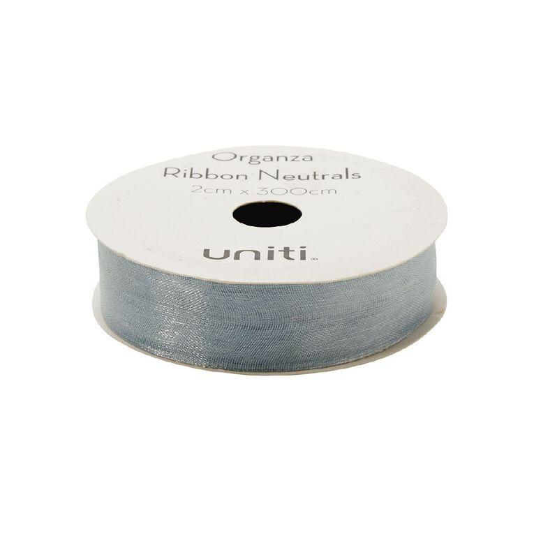 Uniti Organza Ribbon Neutrals 3m Assorted, , hi-res
