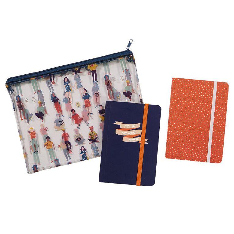 Uniti Empowerment Notebooks Set 2 Pack A6 In Pencil Case Clear, , hi-res