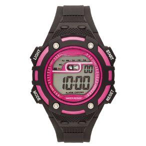 Active Intent Women's Sports Digital Watch Black Pink