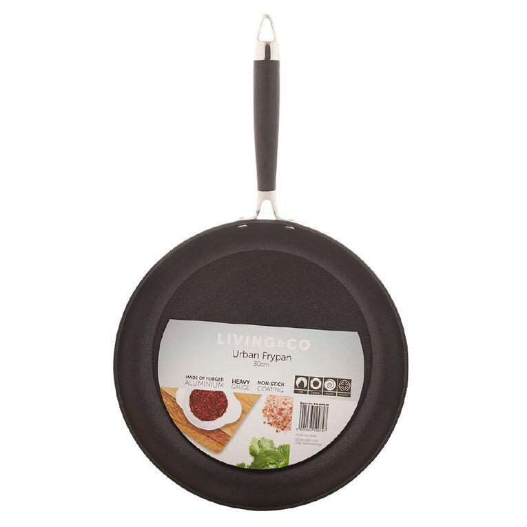 Living & Co Urban Frypan Black 30cm, , hi-res