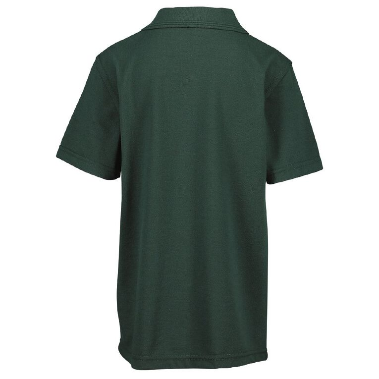 Schooltex Lucknow Short Sleeve Polo with Embroidery, Bottle Green, hi-res