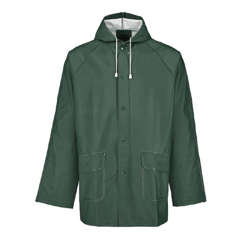 Rivet PVC Rain Jacket, Green, hi-res