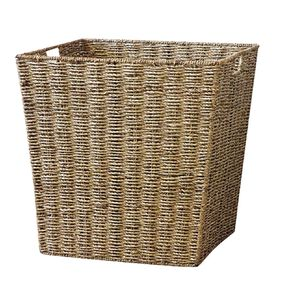Living & Co Seagrass Square Basket Natural Large