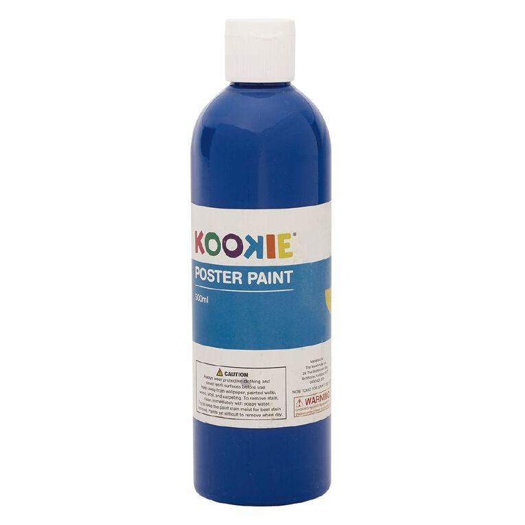 Kookie Poster Paint Blue 500ml, , hi-res