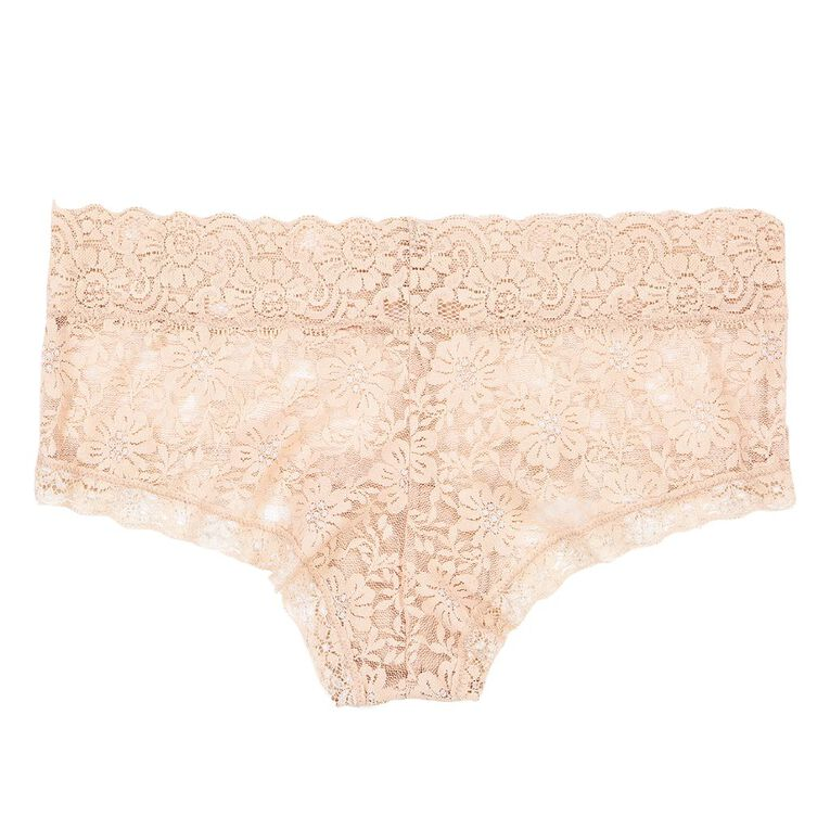 H&H Women's Poppy Lace Boyleg Briefs, Rose Gold, hi-res image number null