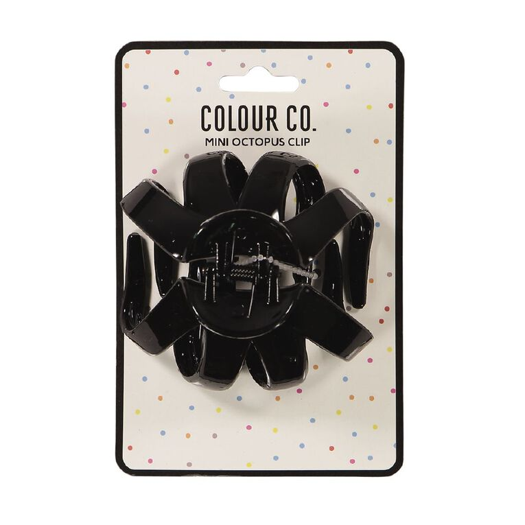 Colour Co. Hair Octopus Clip Mini Black, , hi-res
