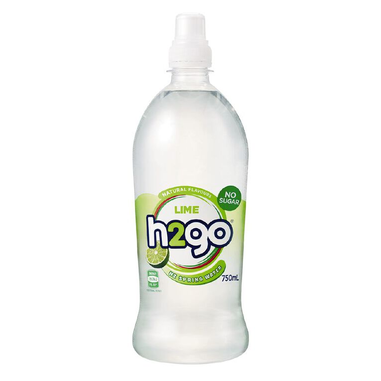 H2go Flavoured Water Lime 750ml, , hi-res