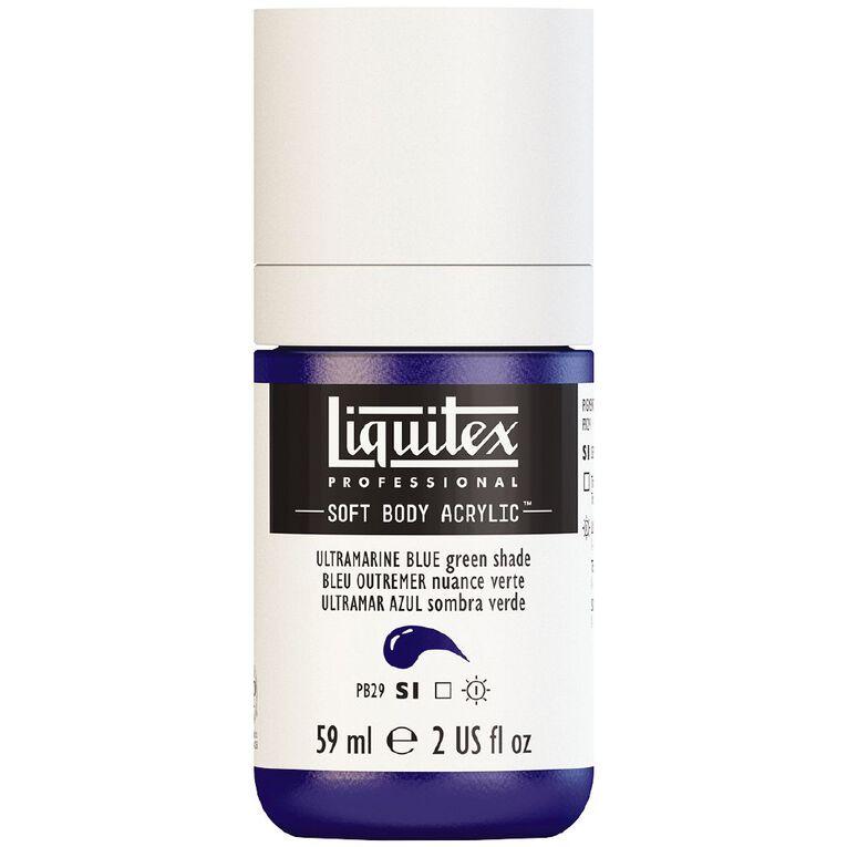 Liquitex Soft Body Acrylic 59ml Ultra Blue Green Shade S1, , hi-res