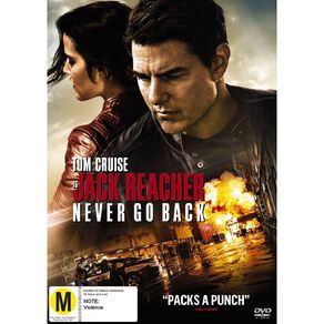 Jack Reacher Never Go Back DVD 1Disc