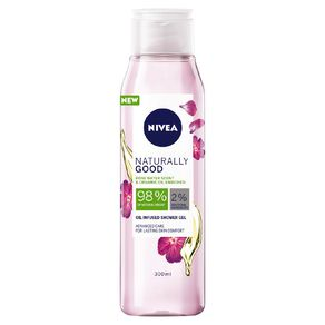 Nivea Shower Gel Naturally Good Rose Water And Oil 300ml