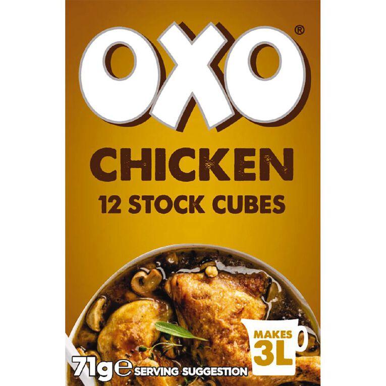 Oxo Chicken Stock Cubes 71g, , hi-res