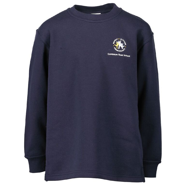 Schooltex Dominion Road Crew Tunic Sweatshirt with Embroidery, Navy, hi-res