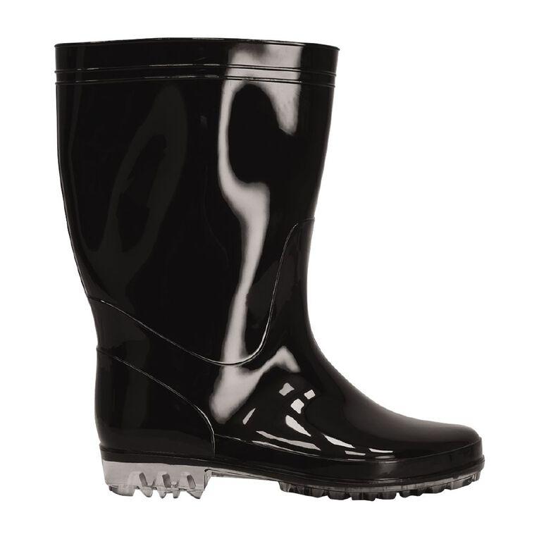 H&H PVC Splash Gumboots, Black, hi-res